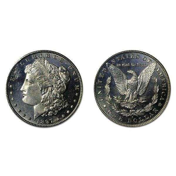 1897 S Morgan Dollar - MS63+ - Proof Like