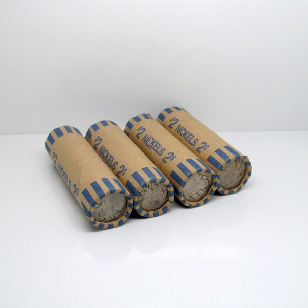 5 Rolls (200) of Buffalo Nickels - Partial Dates