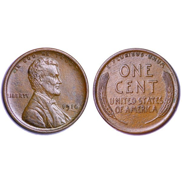 1916 P Lincoln Wheat Cent - AU