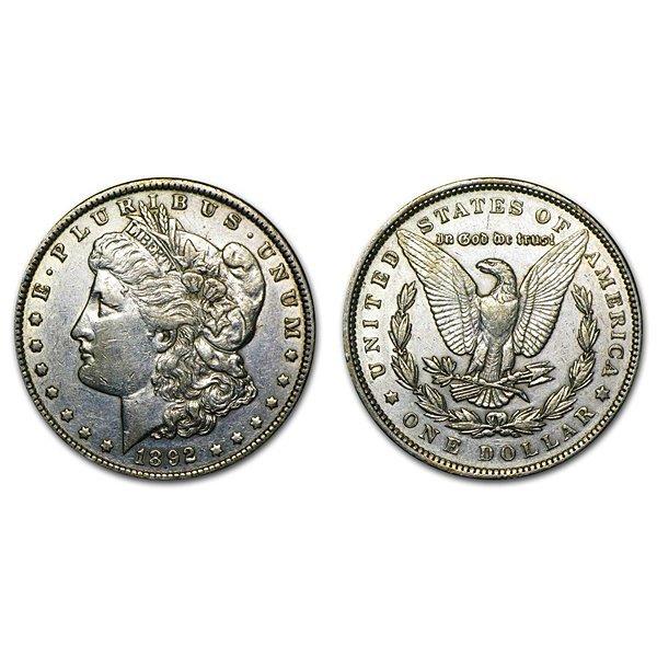 1892 Morgan Silver Dollar - AU