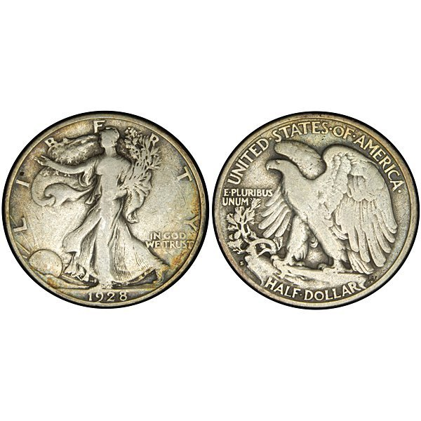 1928 S Walking Liberty Half Dollar - VF