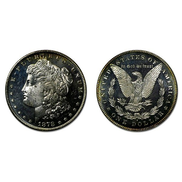 1878 S Morgan Dollar - MS63+ - Proof Like