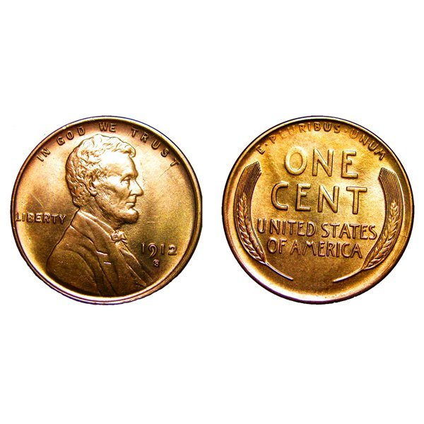 1912 S Lincoln Wheat Cent - Gem BU