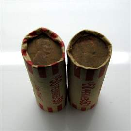 2 Rolls (100) of (1909-1958) Lincoln Wheat Cents
