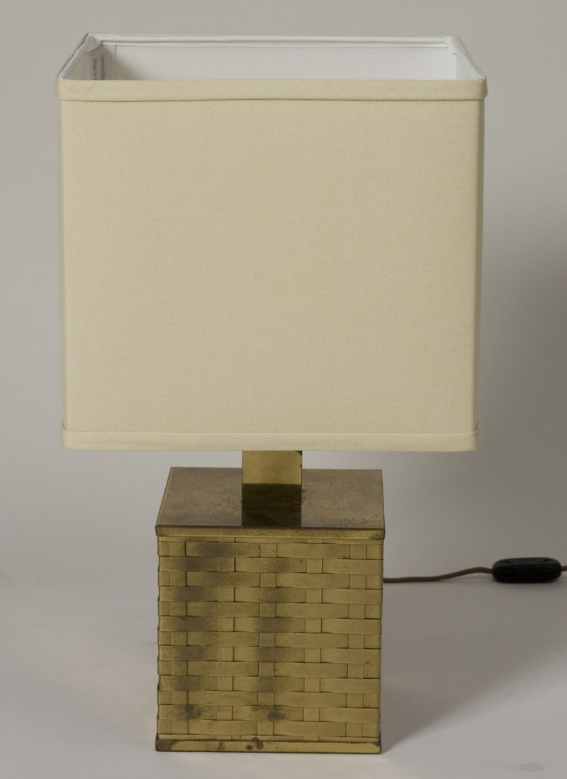Woven Brass Table Lamp