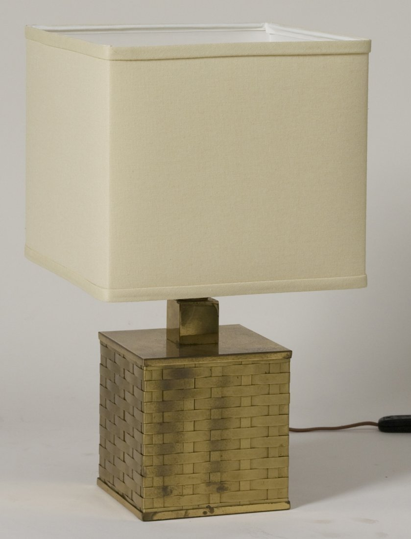 Woven Brass Table Lamp - 2
