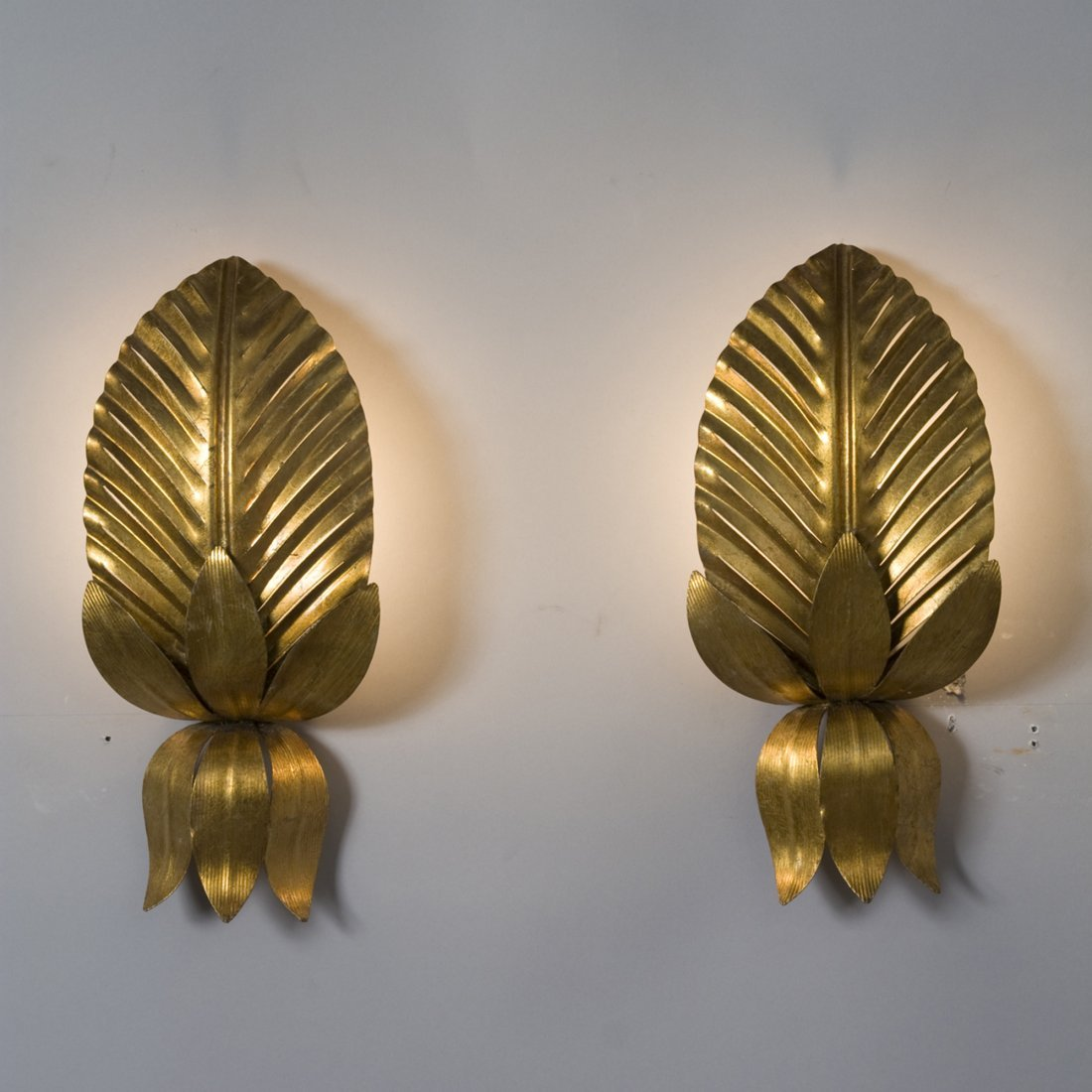 Leaf Sconces by Paavo Tynell