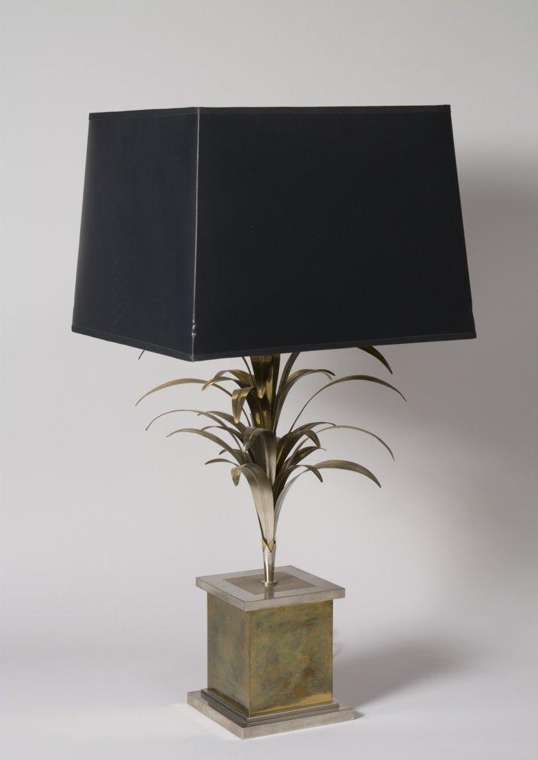 Brass Palm Form Table Lamp