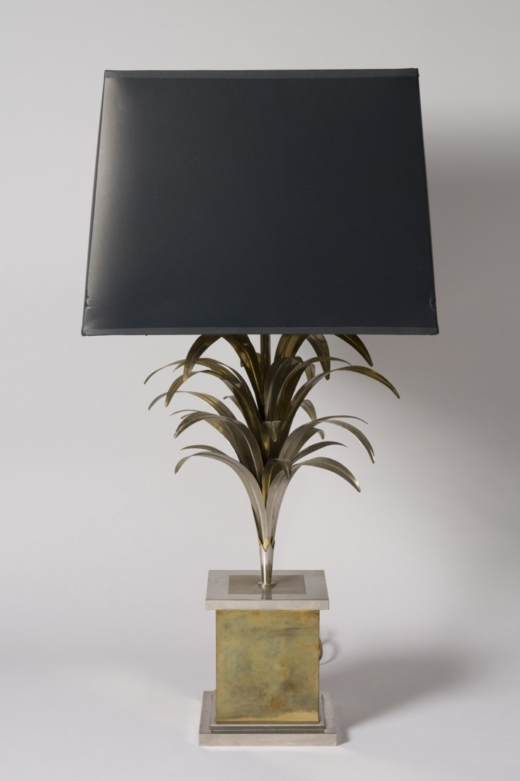 Brass Palm Form Table Lamp - 2