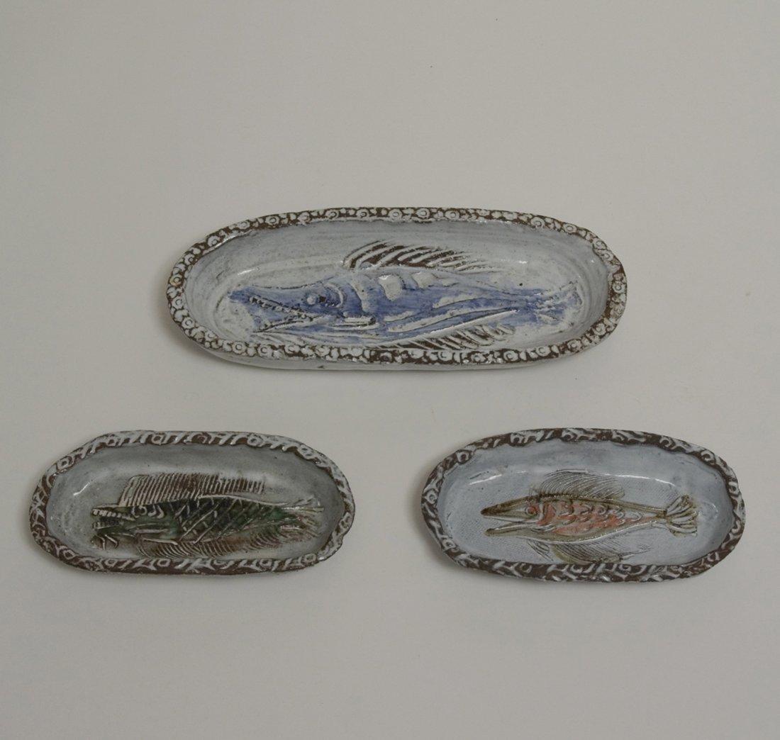 Ceramic Dishes by Albert Thiry, Set of Three