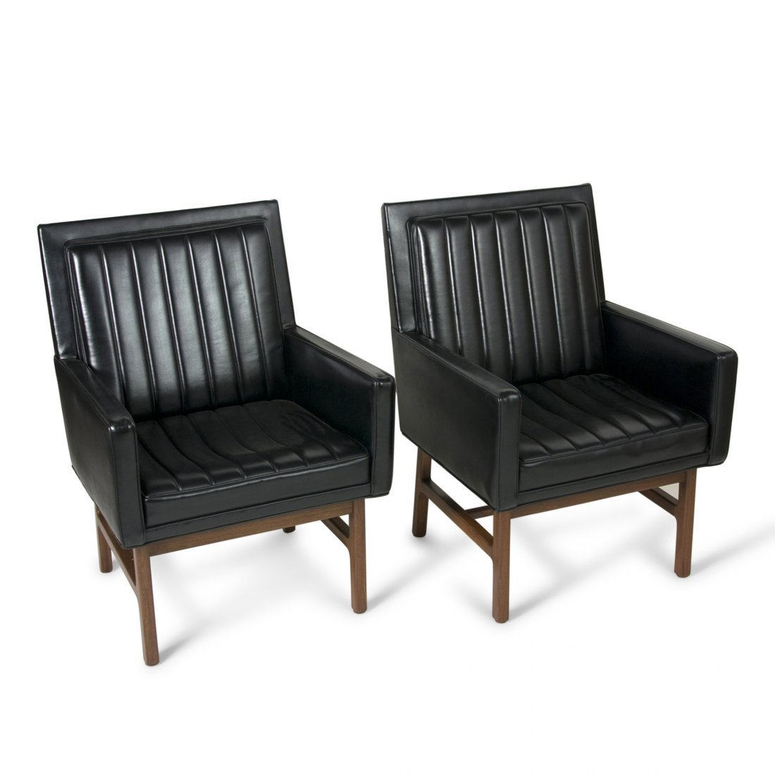 Black Armchairs by Milo Baughman (1st pair)