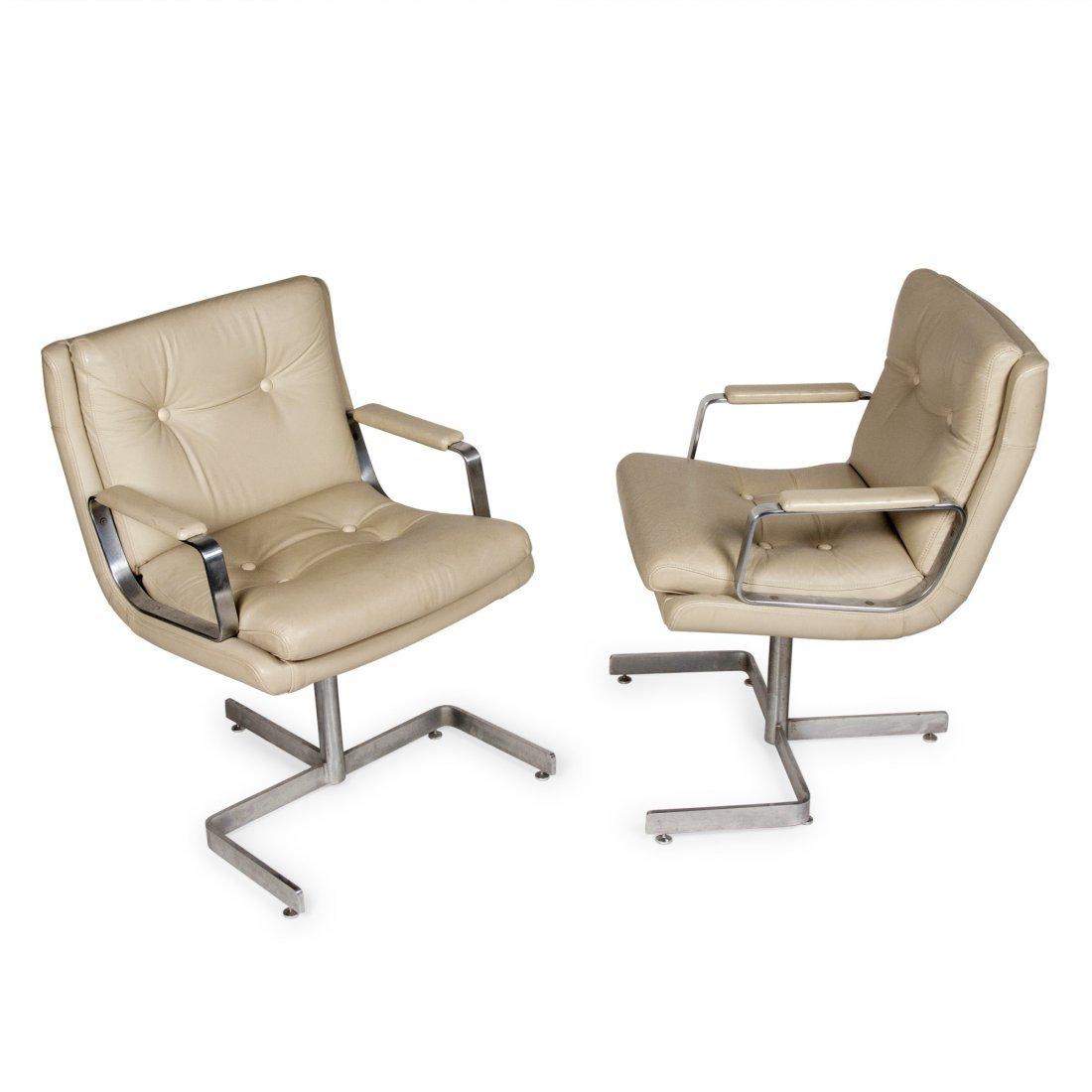 Raphael Desk Armchairs, Pair