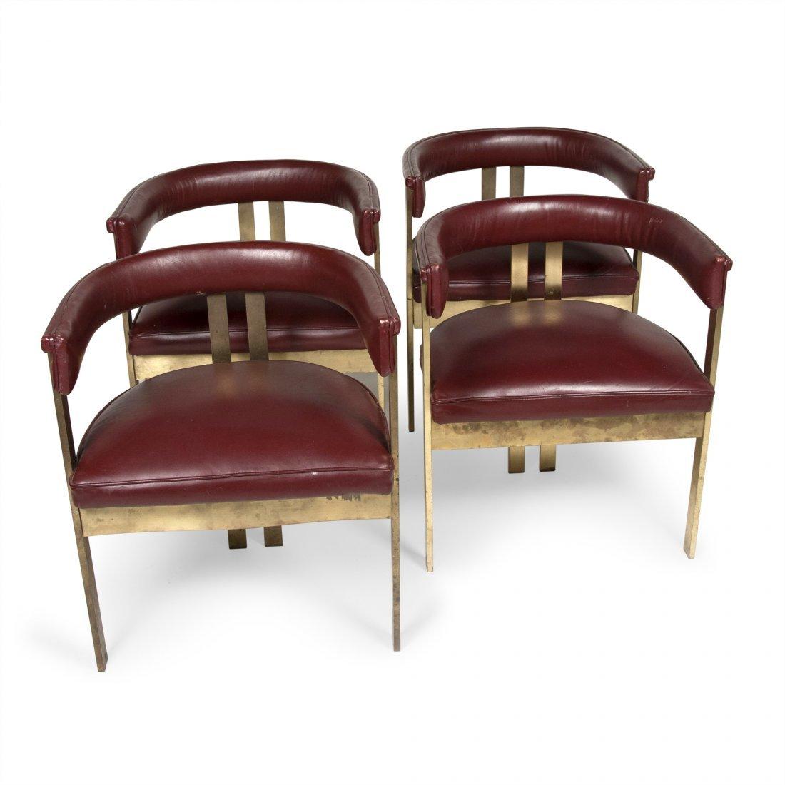 Tobia Scarpa Bronze Chairs, Four