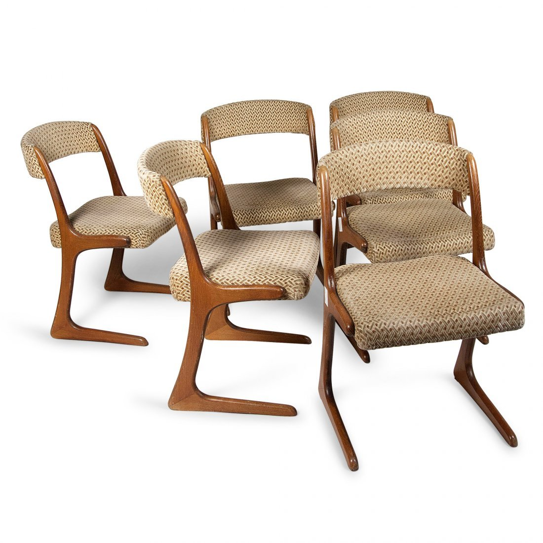 Guillerme and Chambron Dining Chairs, Six
