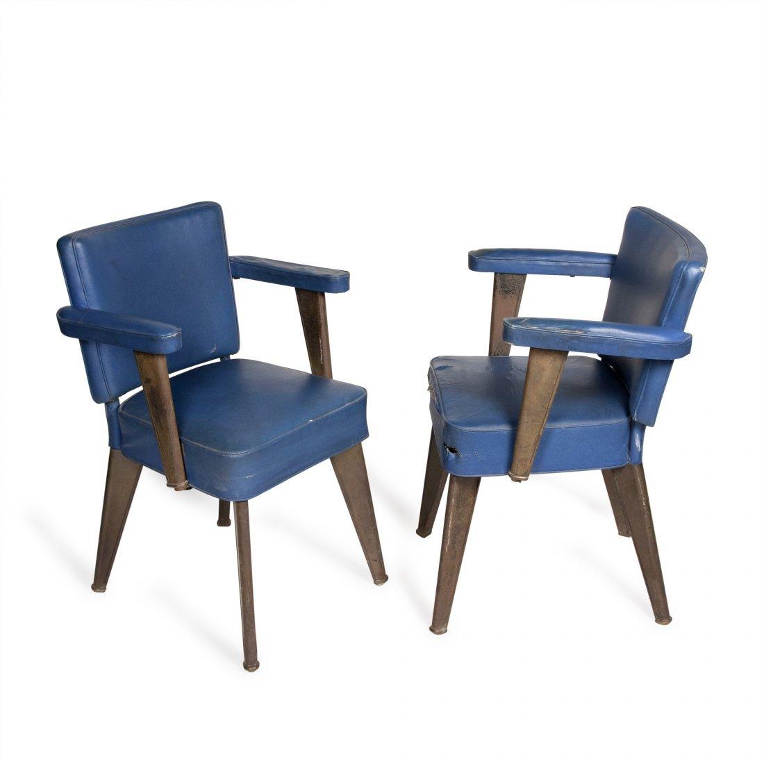Dominique Desk Chairs, Pair