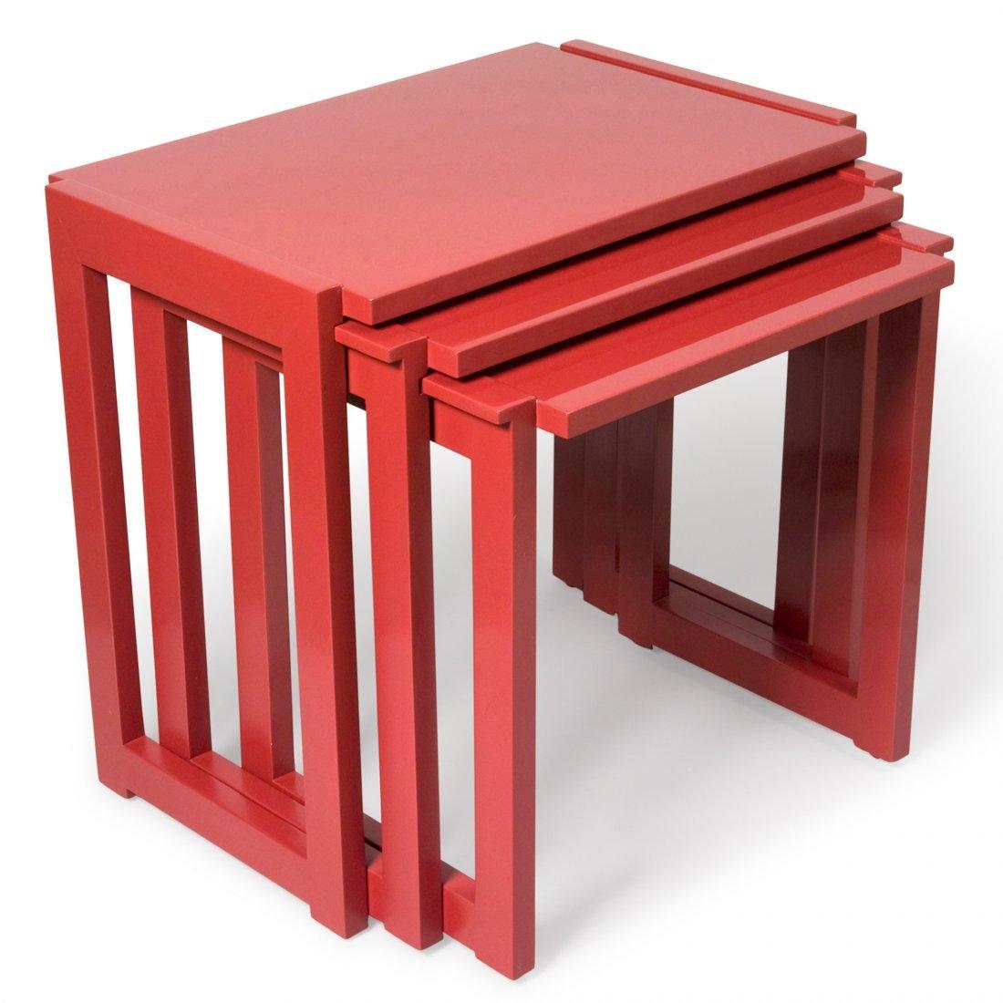 Paul Laszlo Lacquered Nest of Tables