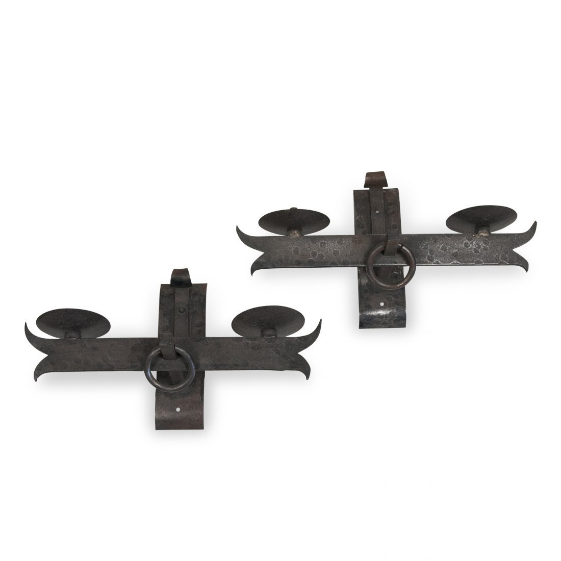 Hammered Iron Sconces