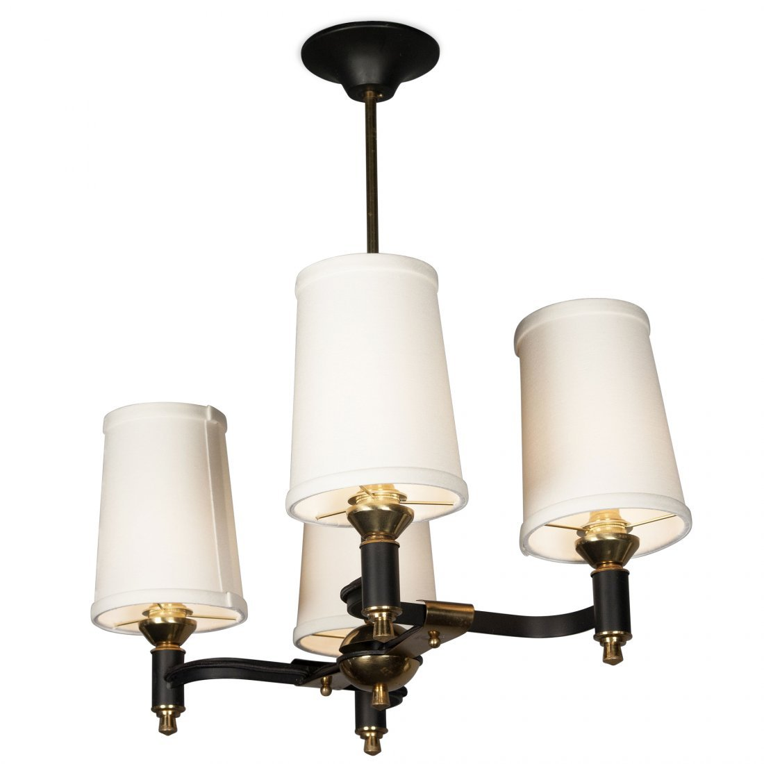 Iron and Brass T-Chandelier