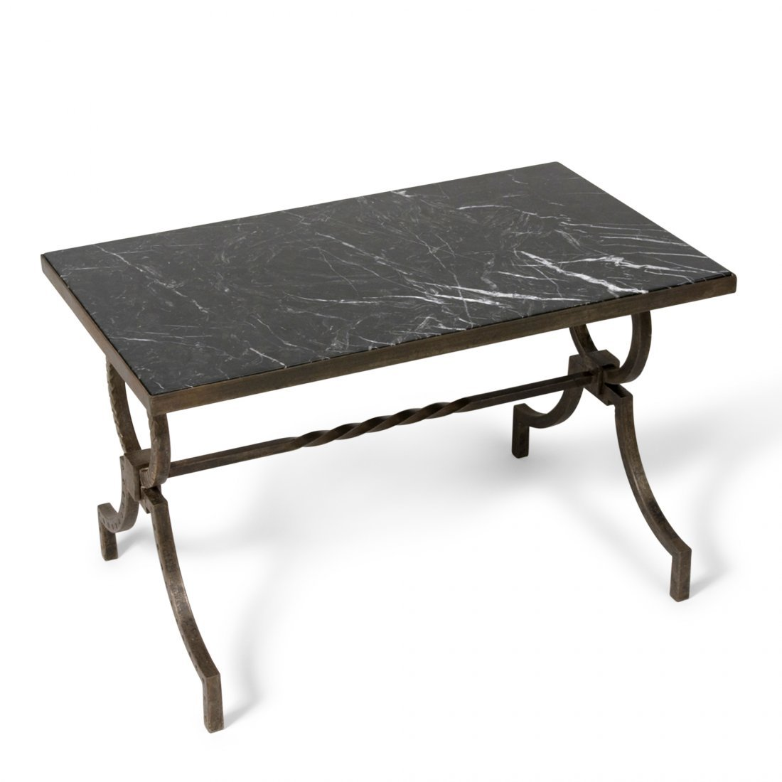 Marble Top Table by Gilbert Poillerat