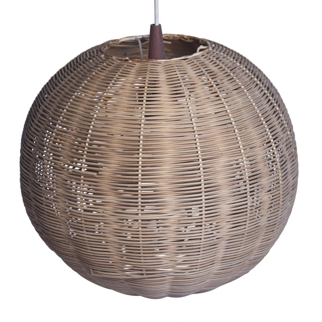 Woven Sphere Hanging Lamp