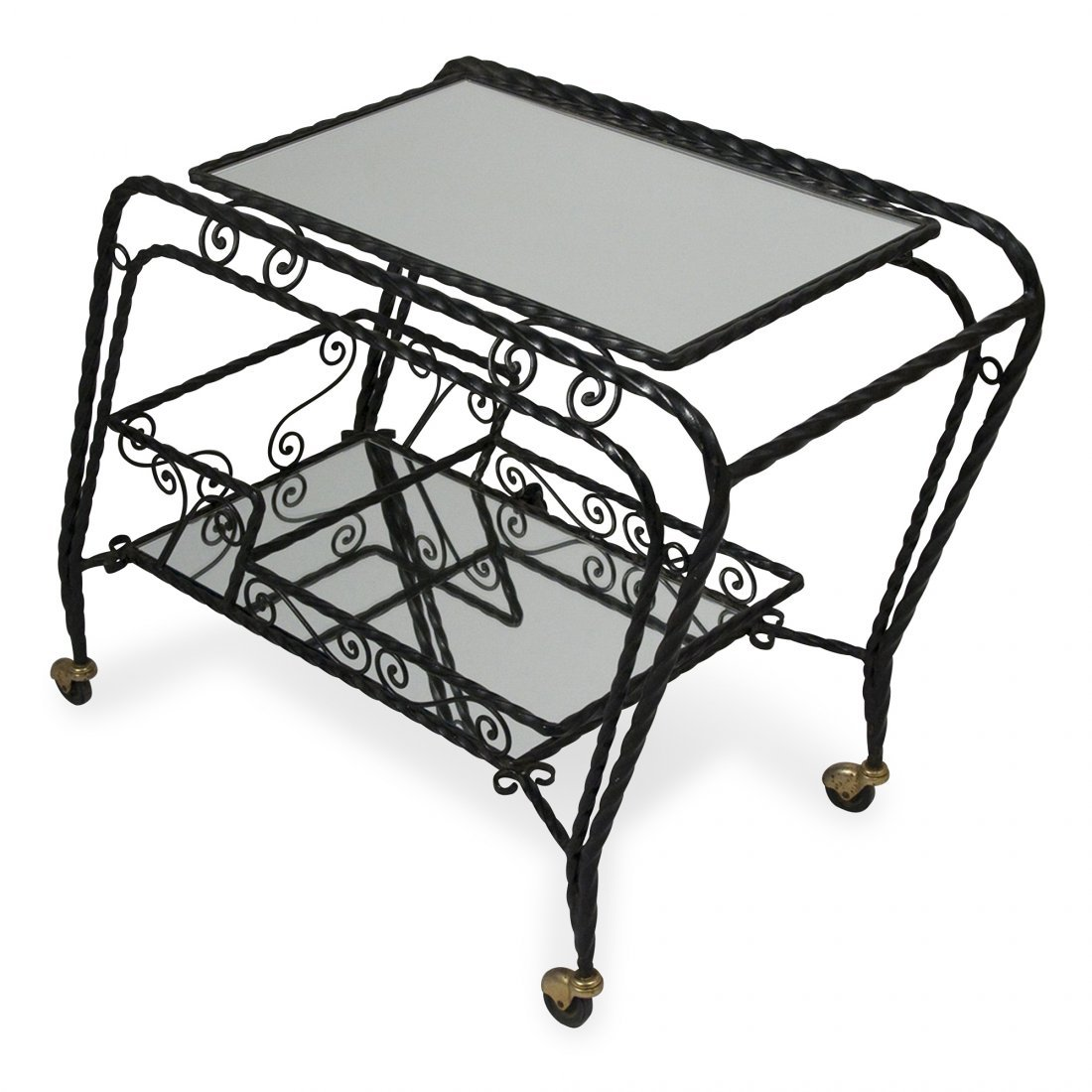 Mirrored Serving Cart by Chaty