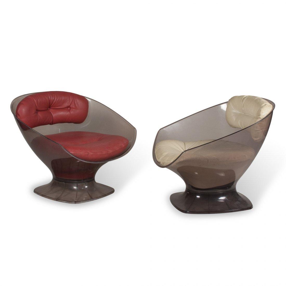 Smoky Plexi Chairs by Raphael