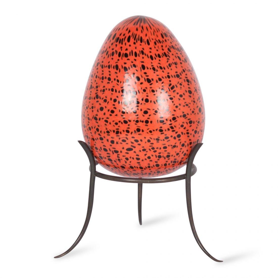 Santillana for Venini Glass Egg