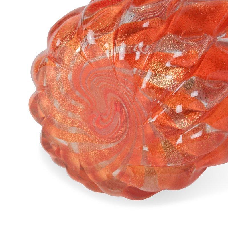 Orange Cased Glass Vase by Barovier - 5