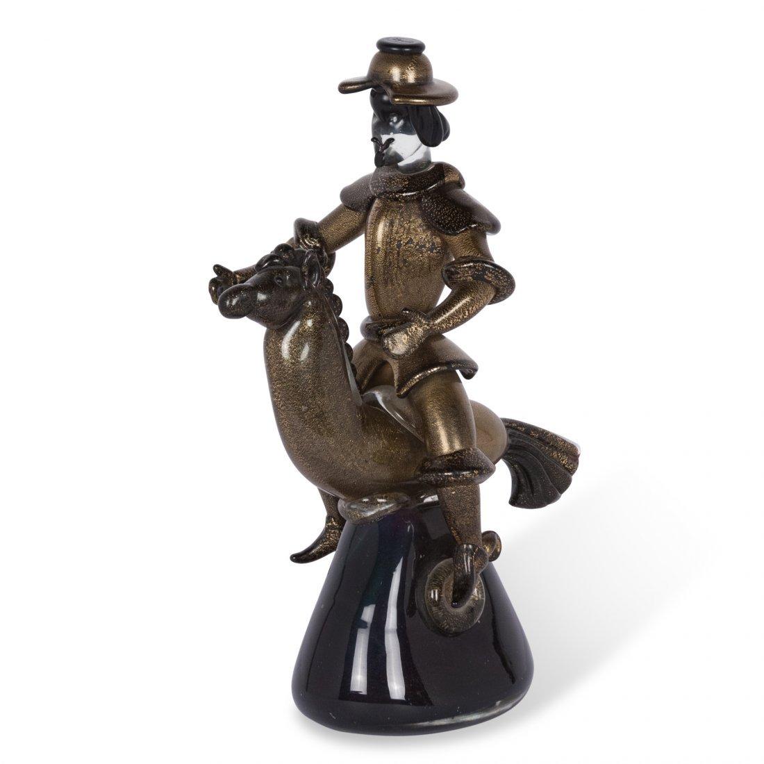 Barovier Mounted Glass Figure - 5