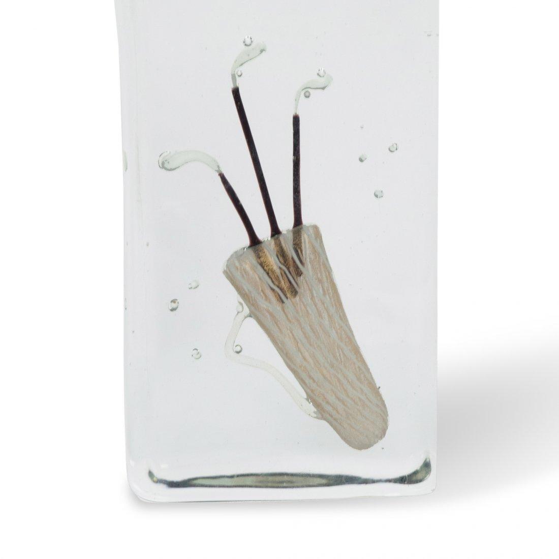 Barbini Golf Glass Block Sculpture - 2