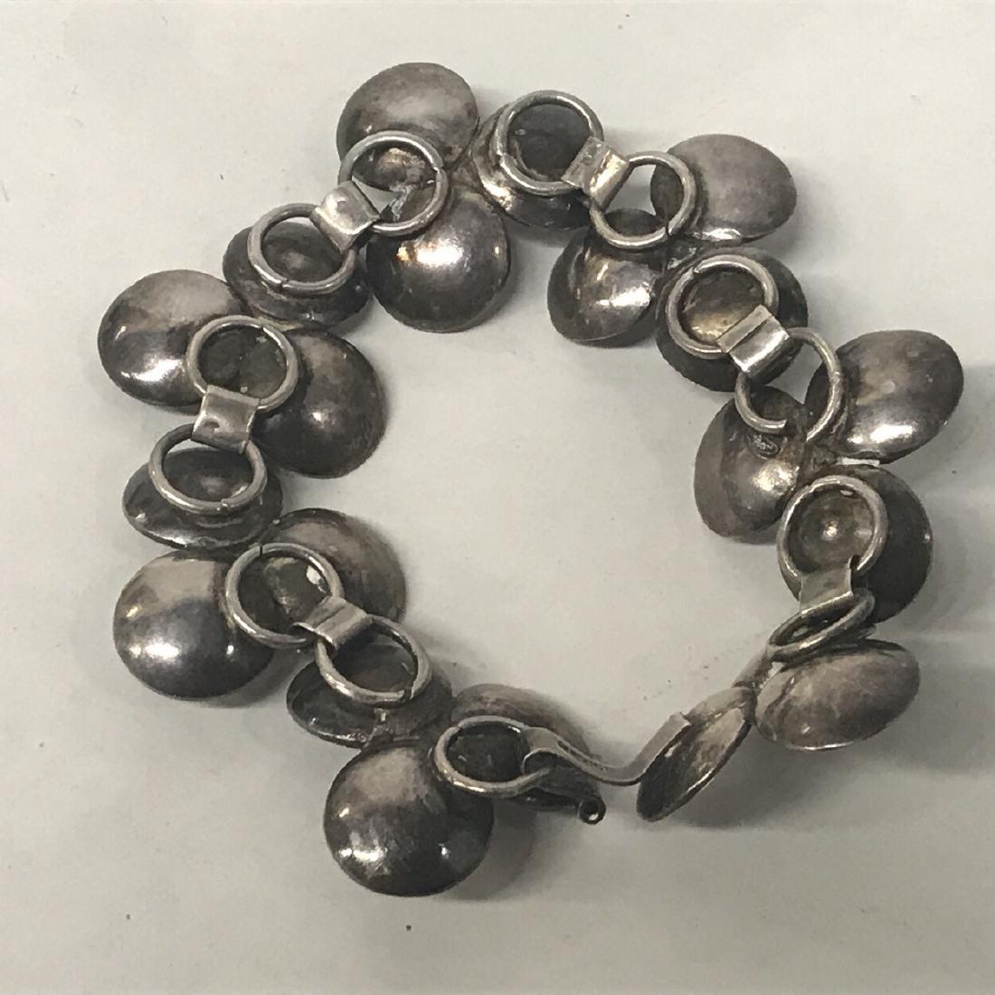 Sterling Silver Amethyst Floral  Bracelet - 5
