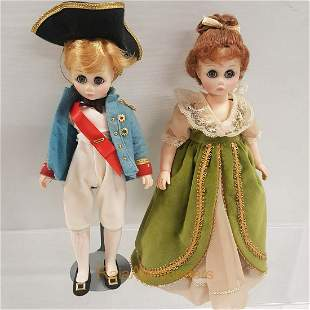 MADAME ALEXANDER Lord Nelson, Lady Hamilton  Dolls