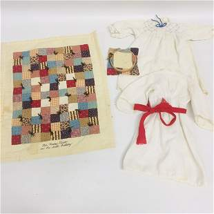 American Girl Doll Kirsten Quilt, St. Lucia, Nightgown