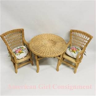 Pleasant Company Samantha Wicker Table and Chairs