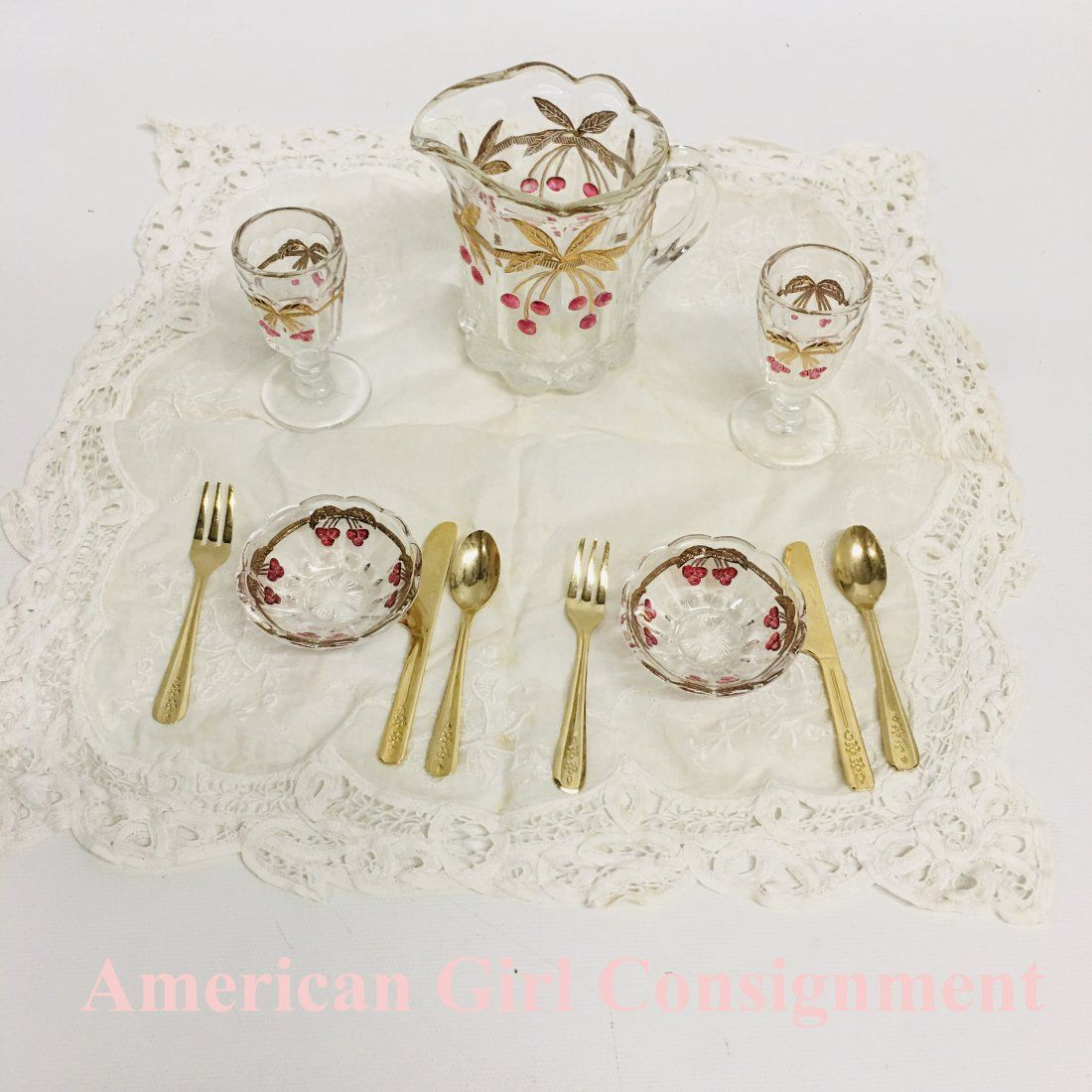 American Girl Doll Samantha Victorian Lemonade Set