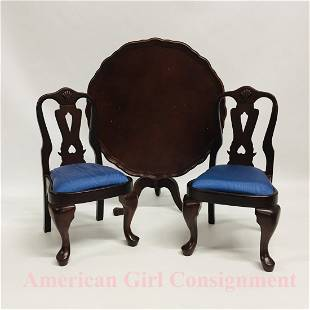 Felicity Tilt Top Table and Chairs American Girl Doll