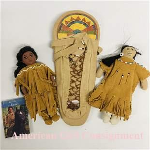 American Girl Mini KAYA, plush Doll and Cradleboard