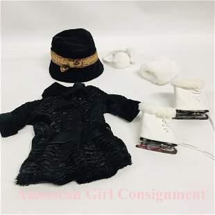 Winter Coat and Skates for American Girl Doll Rebecca
