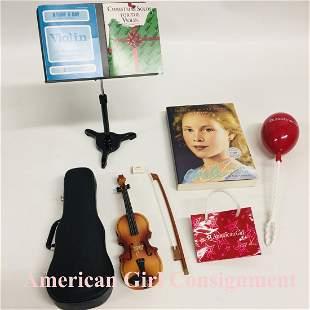 American Girl Doll Birthday set Violin Bow Music Stand