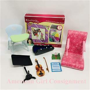 American Girl Doll Violin, Treat Chair and Desk