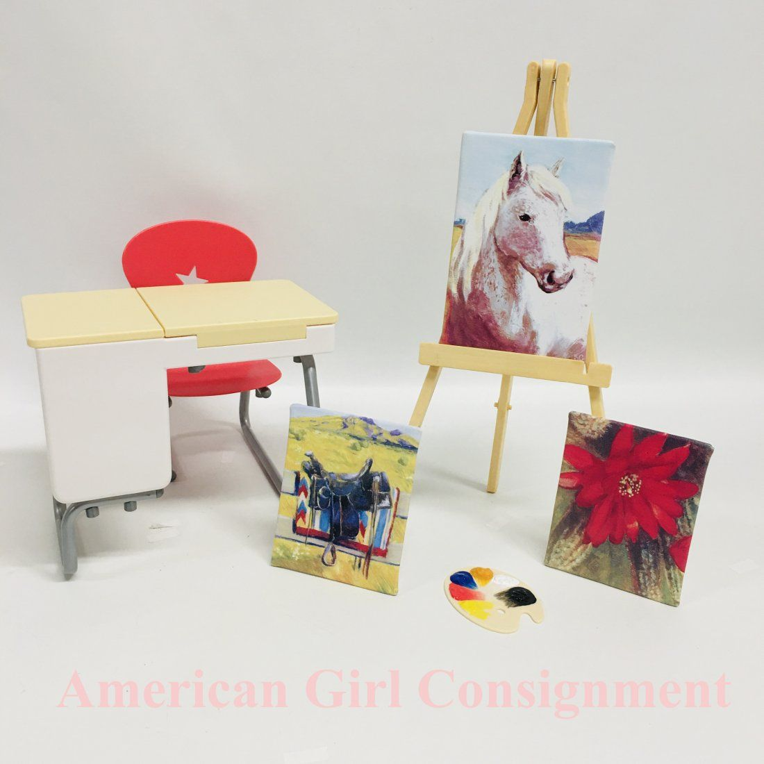 Saige Painting Set and School Desk American Girl Doll