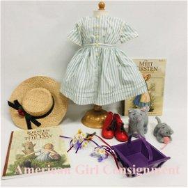American Girl Doll KIRSTEN Summer Dress, Straw Hat