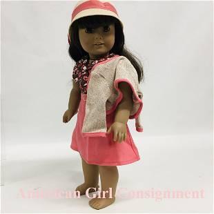 American Girl Doll wearing Kit School Skirt Set