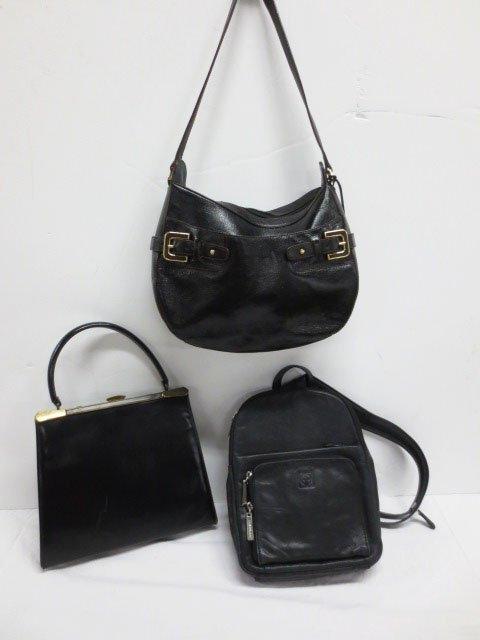 Three Black Leather bags/purses - Etienne Aigner