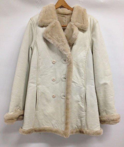Fur lined Leather Jacket - size L