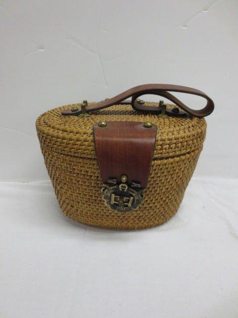 Vintage Etienne Aigner  Nantucket Basket Purse