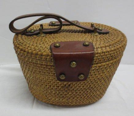 Vintage Etienne Aigner  Nantucket Basket Purse - 2