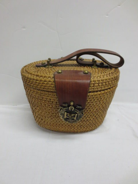 Vintage Etienne Aigner  Nantucket Basket Purse - 4