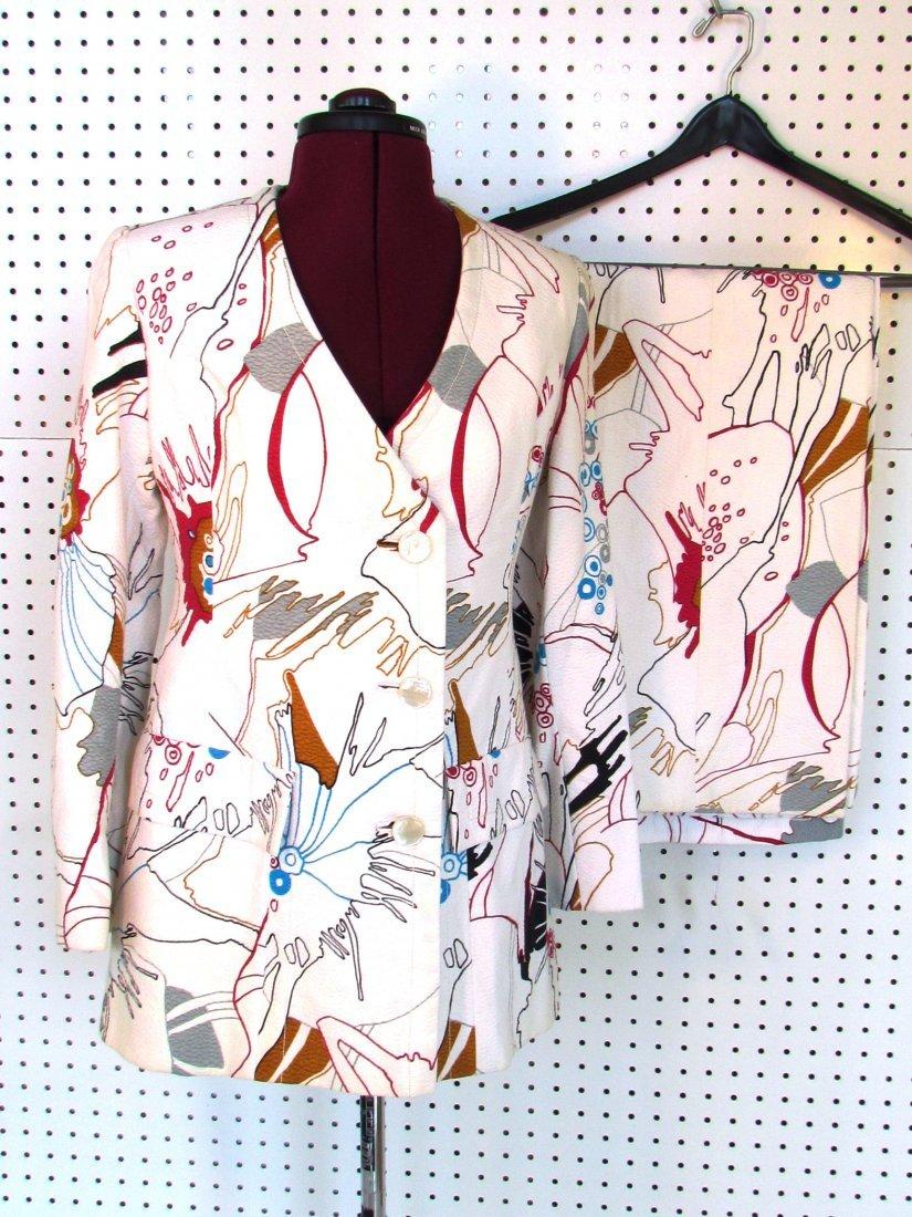 Popart 1960's Ladies suit made for Neiman Marcus