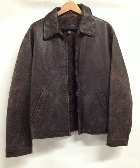J Crew Espresso Brown Leather Jacket - size L
